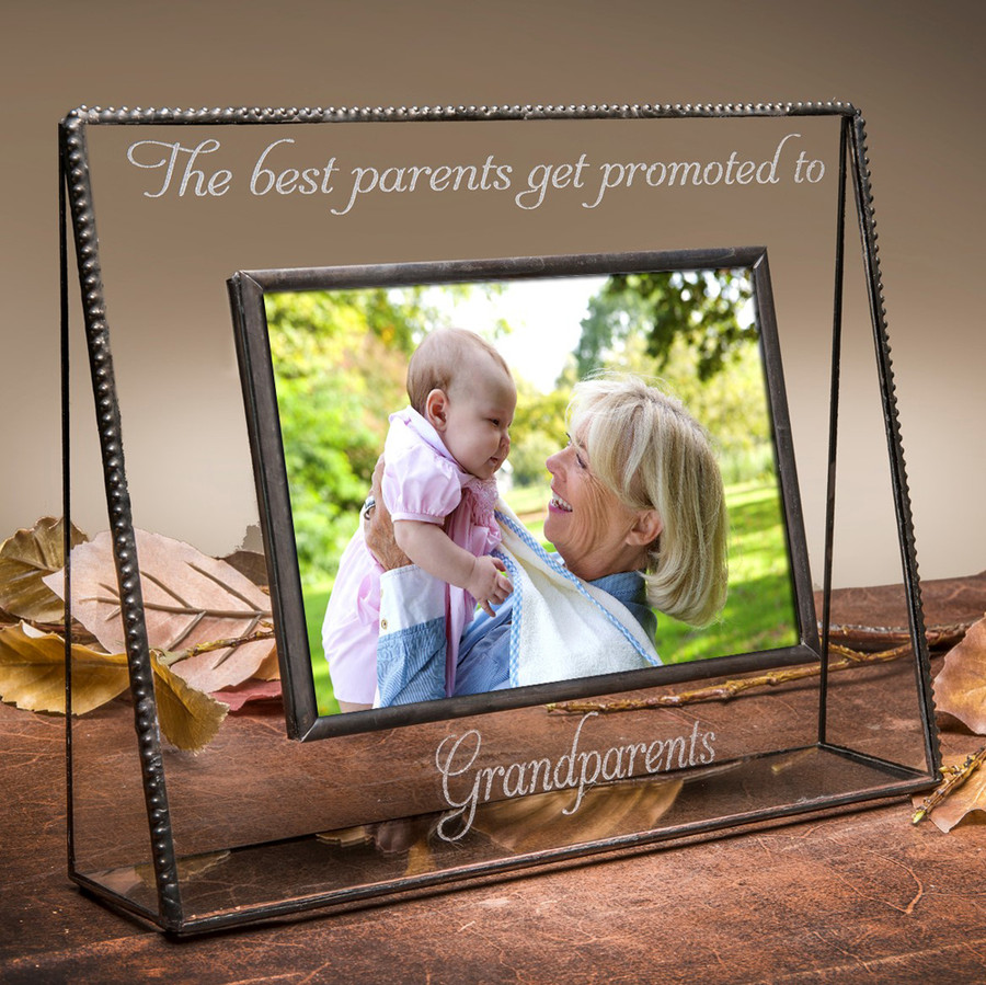 The Best Parents Get Promoted to Grandparents Horizontal or Vertical Picture Frame
