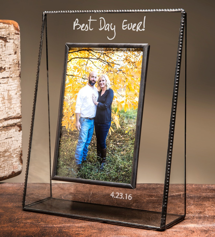 Best Day Ever Personalized Engraved Glass Picture Frame EP532