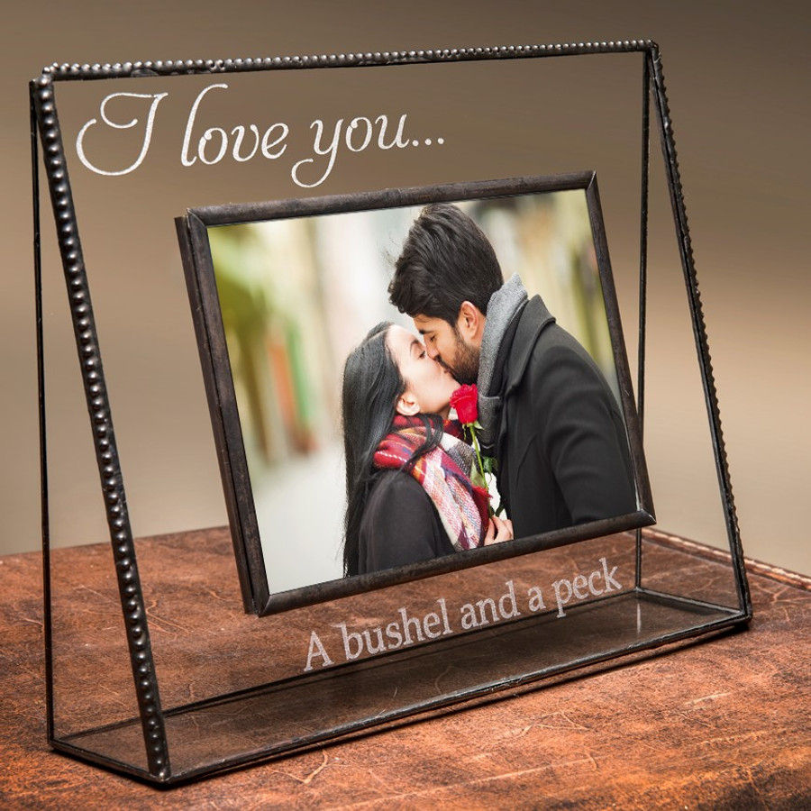 I Love You A Bushel & A Peck Engraved Horizontal or Vertical Picture Frame