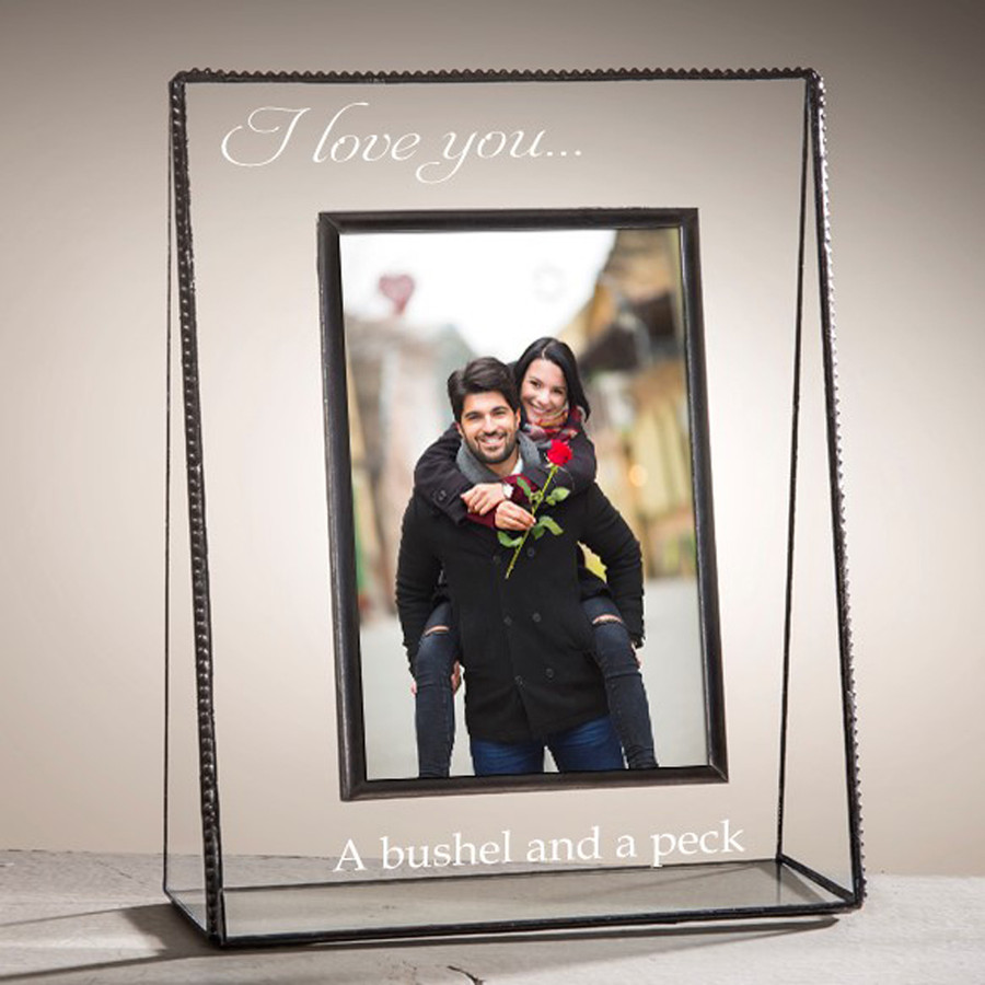 I Love You A Bushel & A Peck Engraved Picture Frame EP512