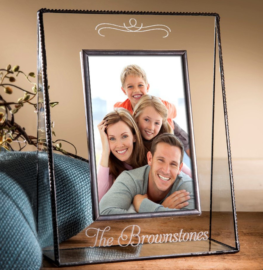 Family Name Engraved Personalized Picture Frame Horizontal or Vertical Various Sizes Pic 319 EP501