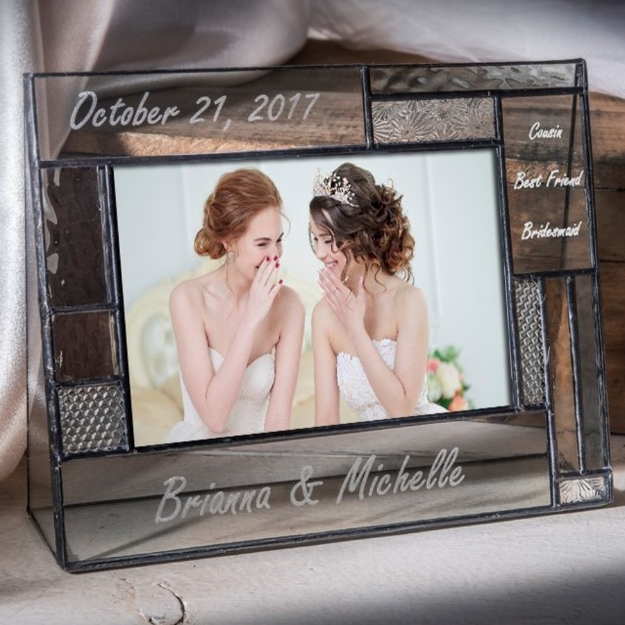 Bridesmaid Maid of Honor Best Friend Personalized Engraved 4x6 Picture Frame