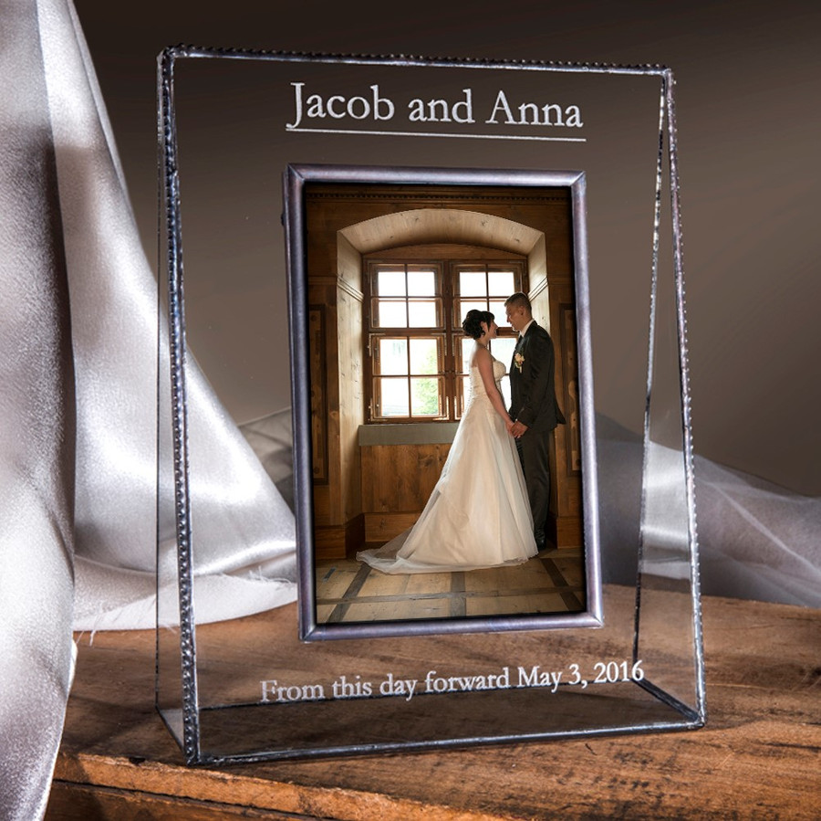 From This Day Forward Personalized Wedding Frame For Bride & Groom 5x7 Vertical