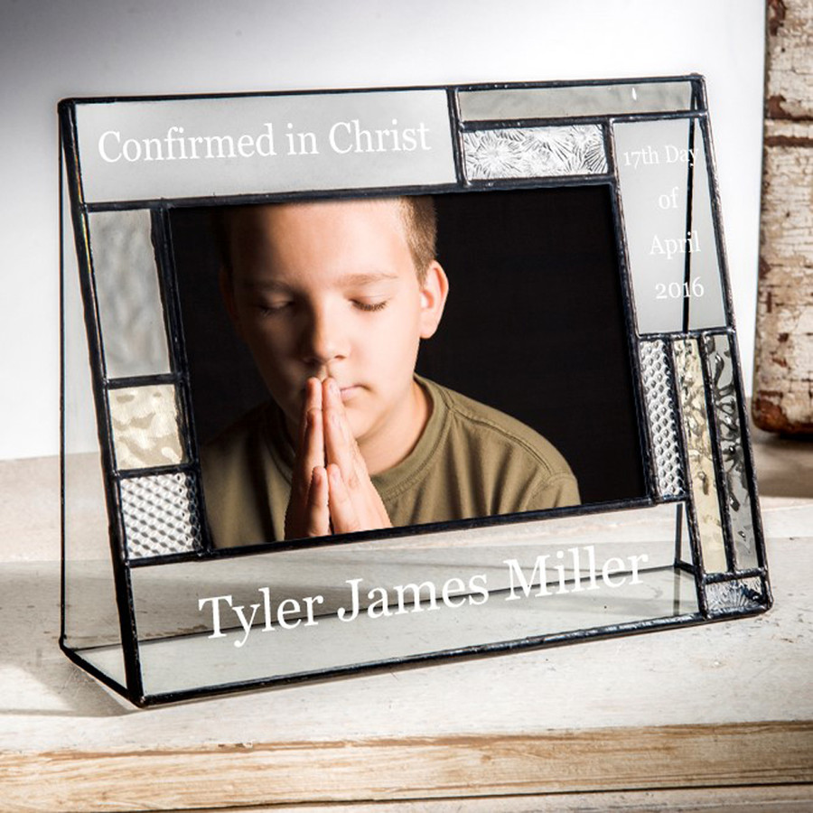 Personalized Confirmation 4x6 Horizontal Picture Frame