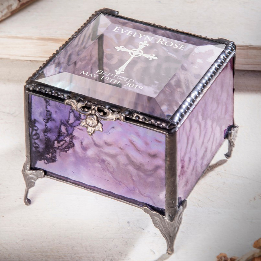 Baptism Personalized Keepsake Box Available In Multiple Colors Box