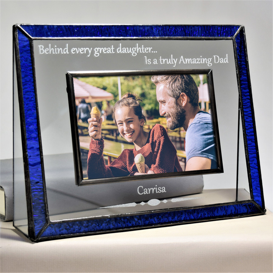 Gift for Dad From Daughter Personalized 4x6 Horizontal Picture Frame