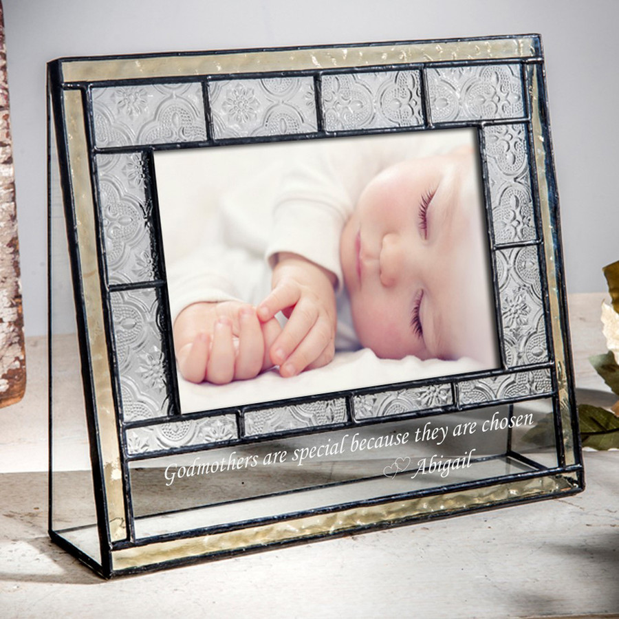 Godparents Gift Personalized Engraved 4x6 Horizontal or Vertical Picture Frame