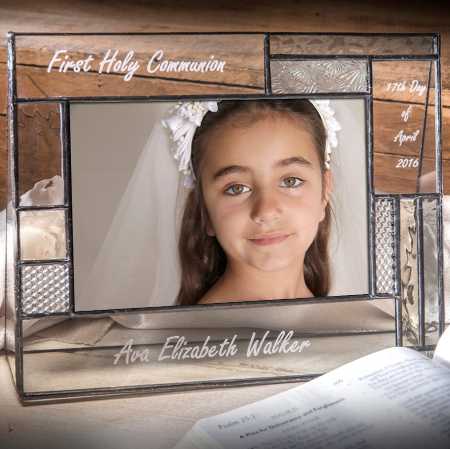 First Holy Communion Personalized 4x6 Horizontal Picture Frame