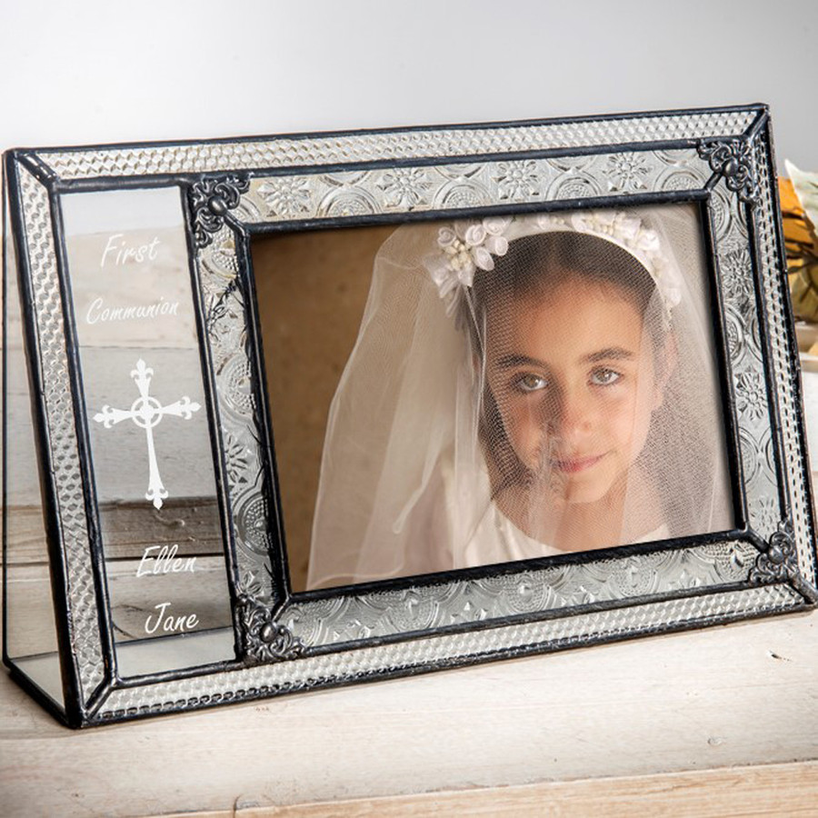 First Communion Personalized 4x6 Horizontal Picture Frame