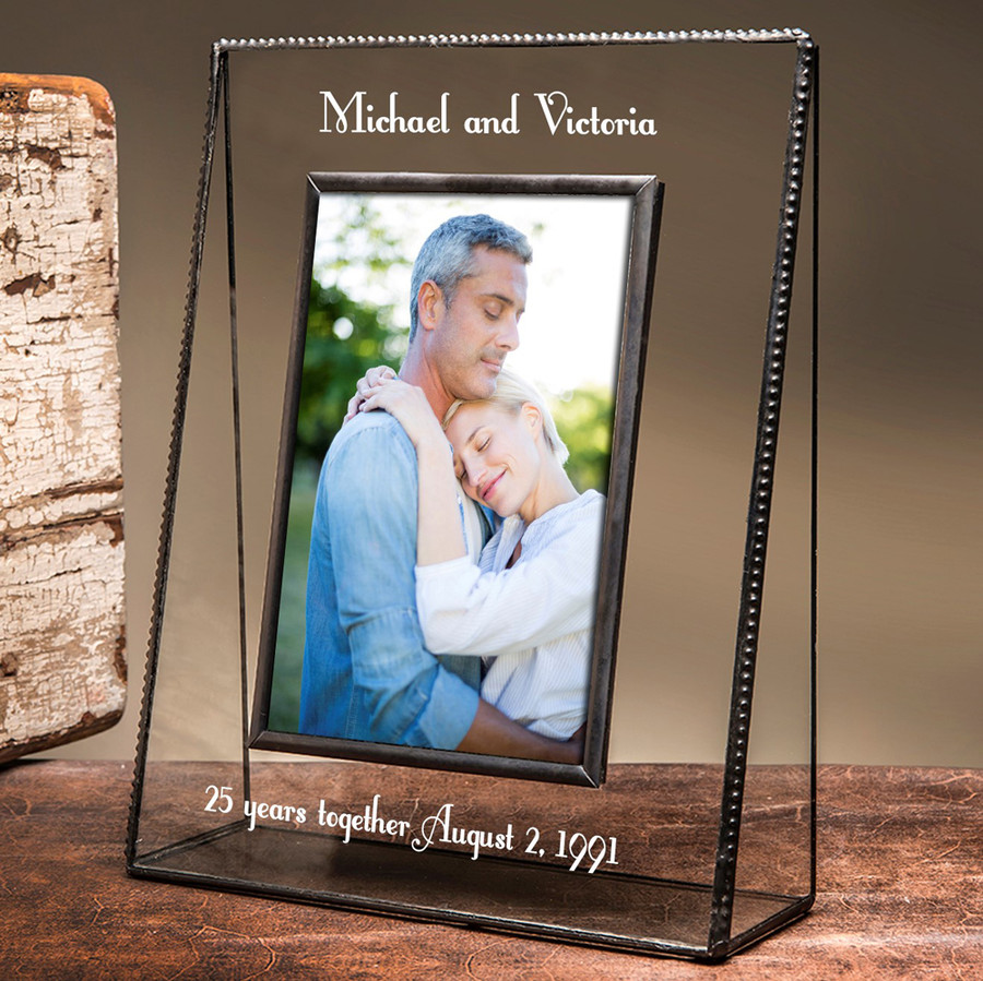 25 Year Anniversary Personalized Engraved Picture Frame EP555