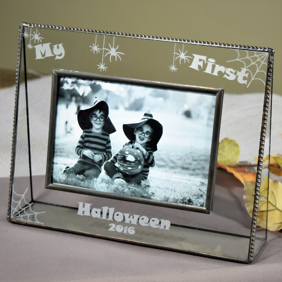 Personalized Gifts- J Devlin Glass Photo Frame - First Halloween - Pic 319-46H EP552