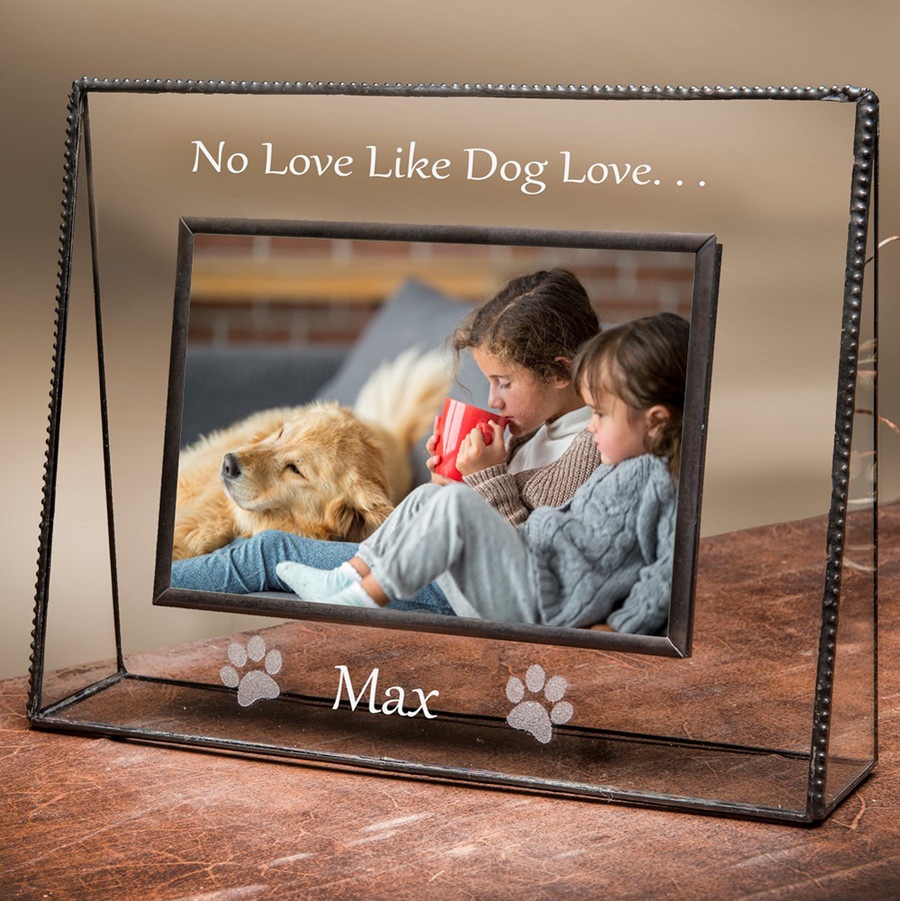 No Love Like Dog Love Personalized Picture Frame 4x6 Horizontal