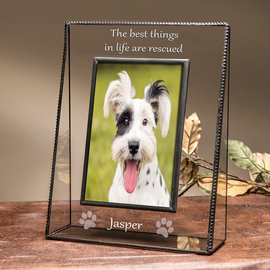 The Best Things in Life Are Rescued Personalized Pet Frame 4x6 Vertical