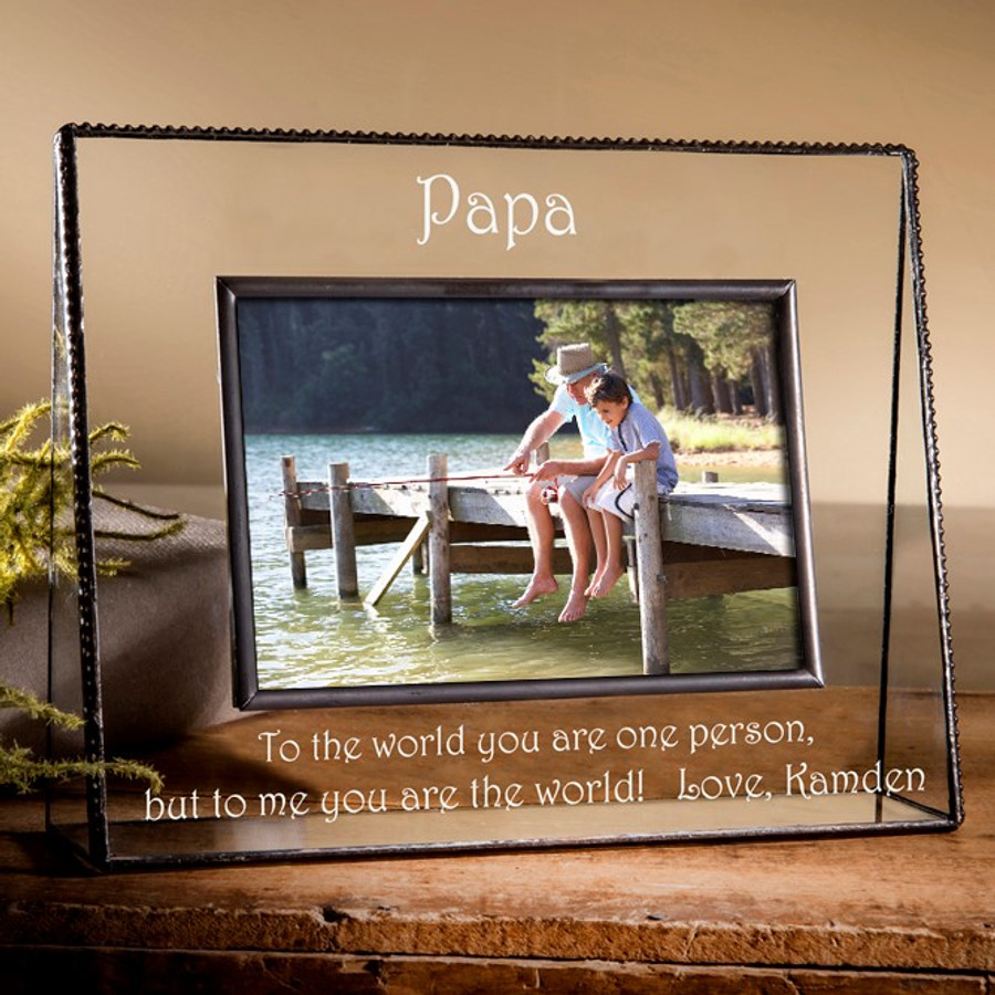 Papa You Are The World Personalized Picture Frame