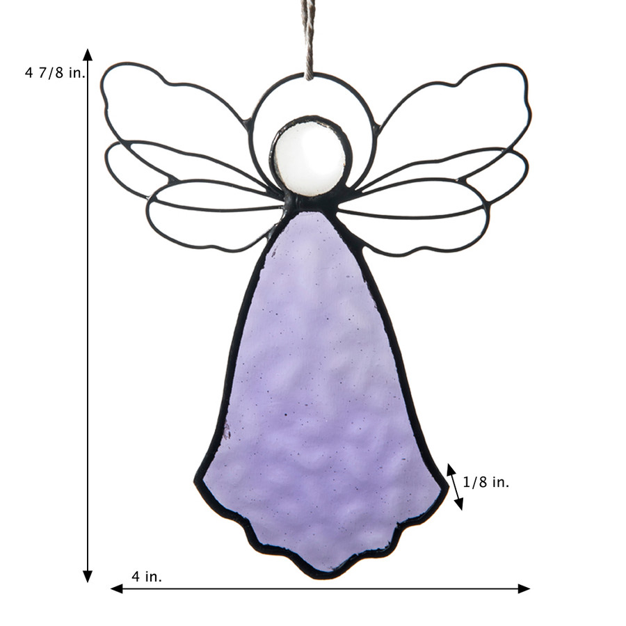 Angel Ornament Purple Stained Orn 303-3
