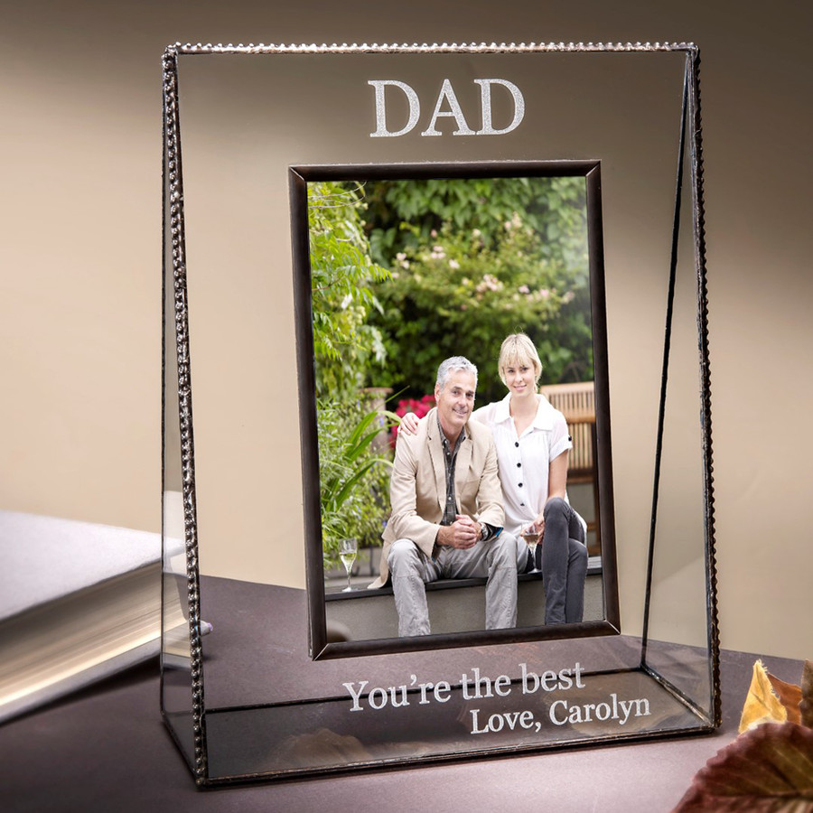 Dad You're the Best Personalized Horizontal or Vertical Picture Frame
