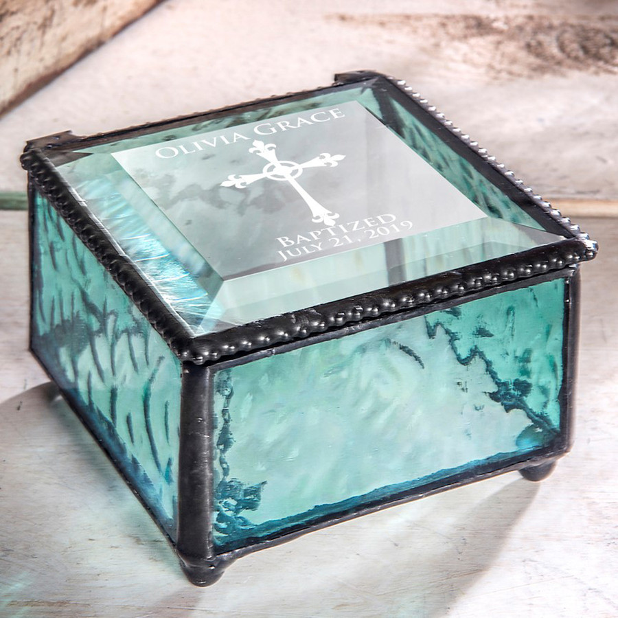 Baptism Personalized Keepsake Box Available in Various Colors