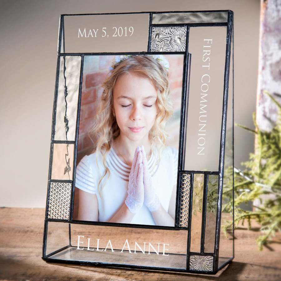 First Communion Personalized 4x6 Vertical Picture Frame
