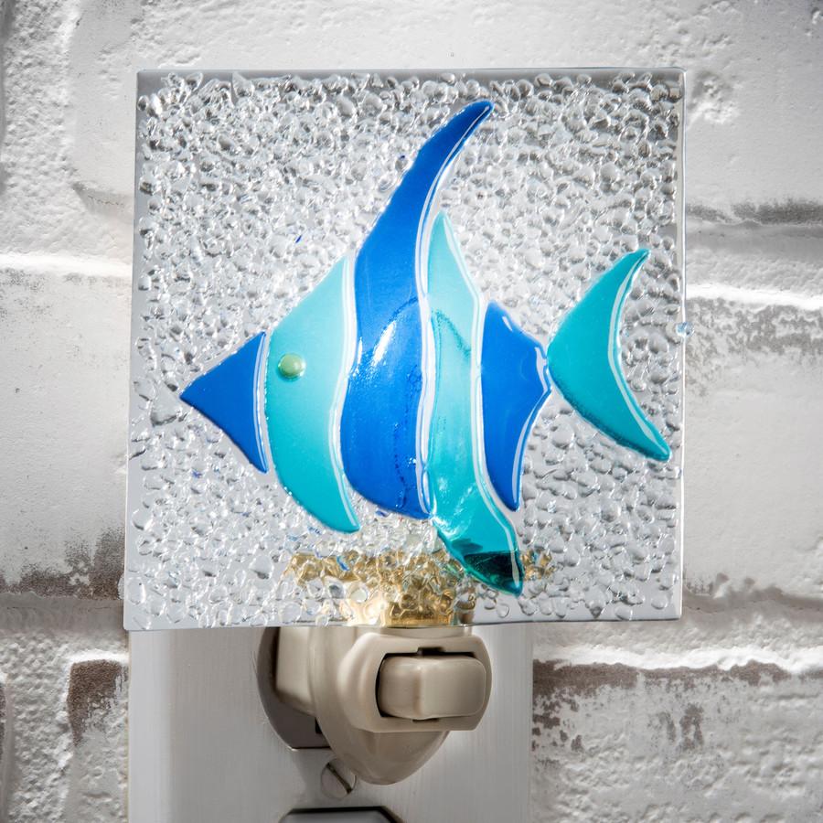 Blue Tropical Fish Night Light