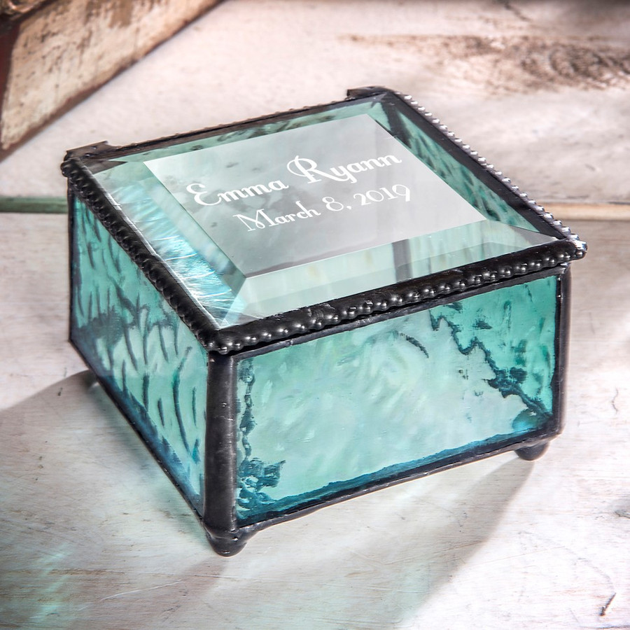 Personalized Special Occasion Keepsake Box Name and Date Various Colors Available