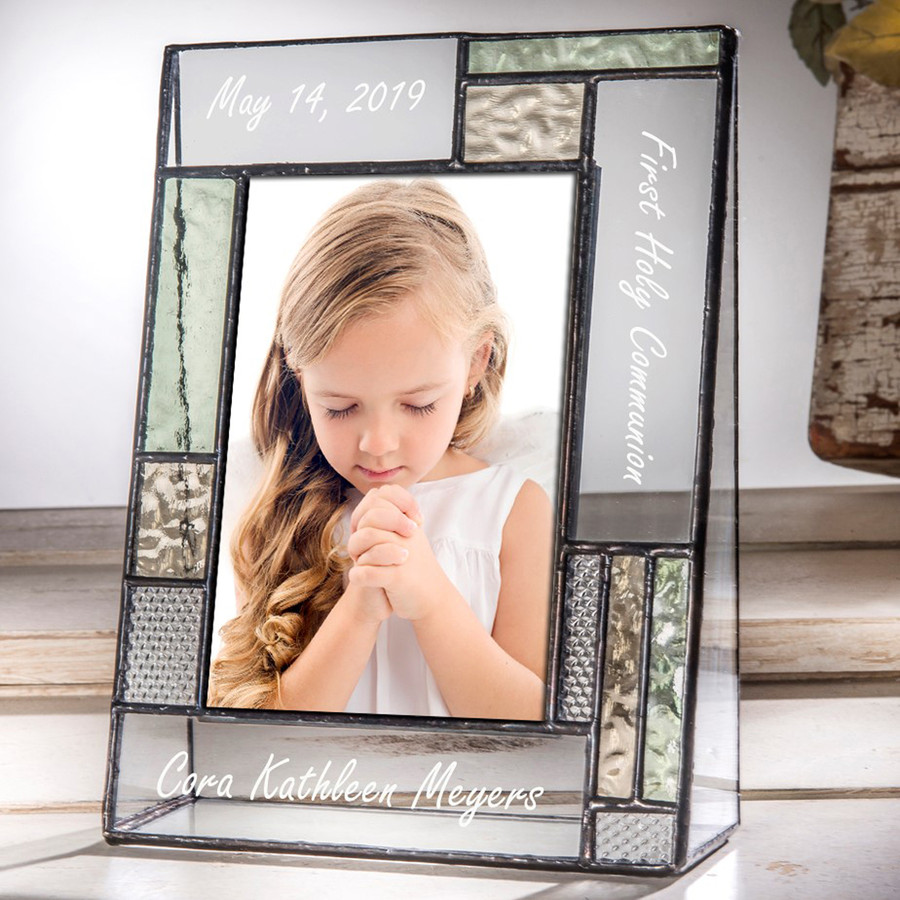 First Holy Communion Personalized 4x6 Vertical Picture Frame