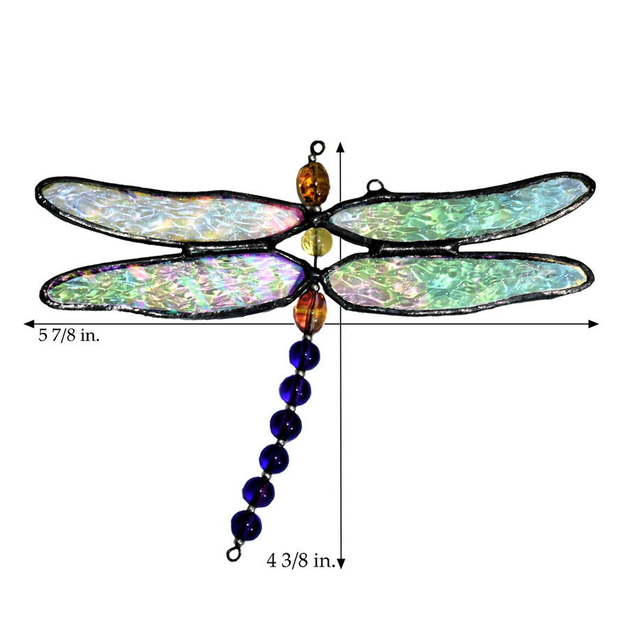 J. Devlin Orn 112 Dragonfly Glass Ornament Window Decor Sun Catcher