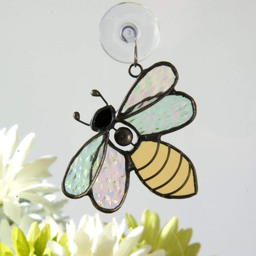 J. Devlin Orn 175 Bumble Bee Stained Glass Ornament Suncatcher Window Decor