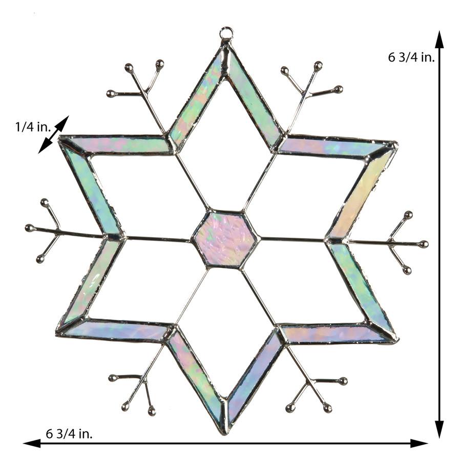 J. Devlin Orn 188 Snowflake Glass Ornament Suncatcher