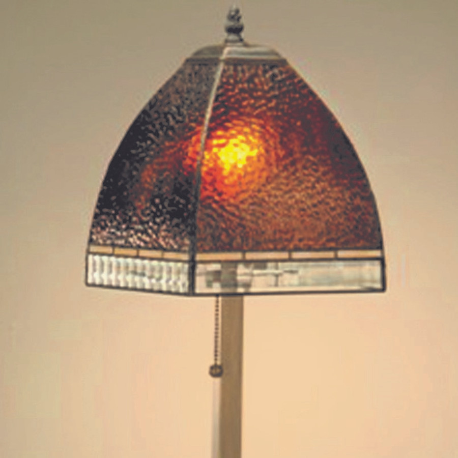 Amber Stained Glass Table Lamp Lam 589-4 TB