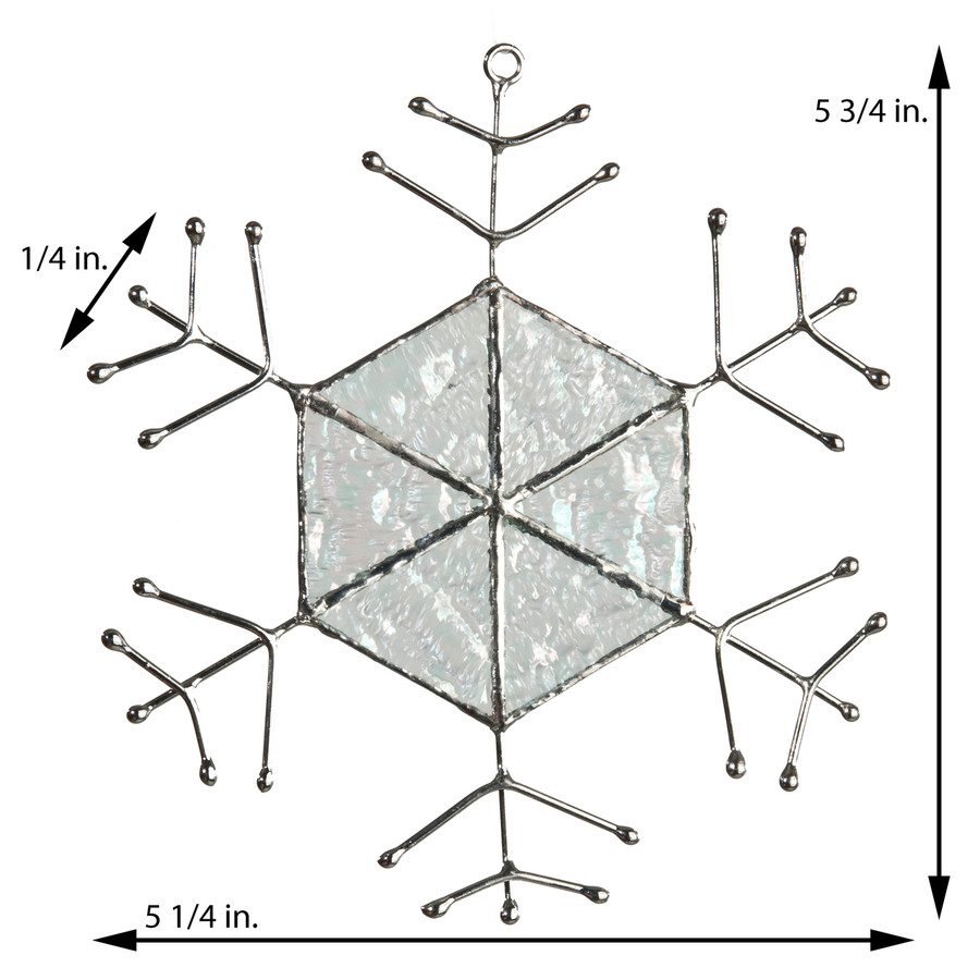 Large Snowflake Ornament with Hexagon Center Orn 190