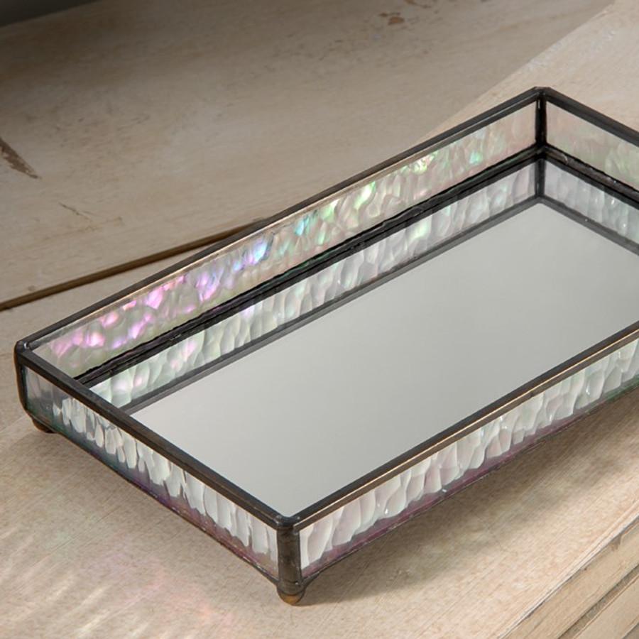 J. Devlin TRA 101 Mirrored Glass Vanity Jewelry Organizer Tray