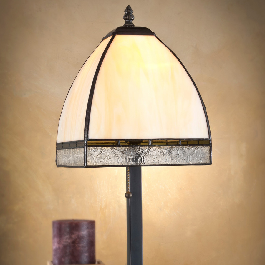 Ivory Opal Pale Moss Green Vintage Table Lamp Lam 589-5 TB