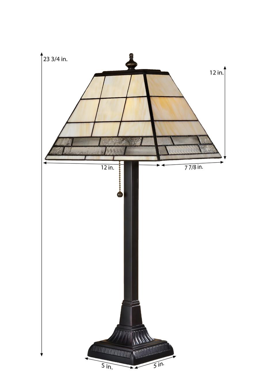 Ivory Granite & Clear Table Lamp Lam 657 TB