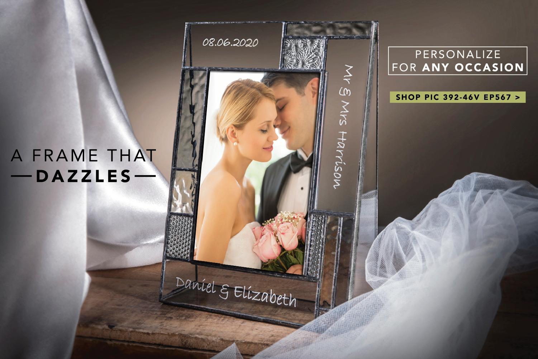 Personalized wedding photo frame