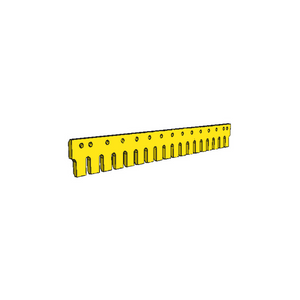 "4Z8055 CAT 3/4"" Holes 7FT Flat Serrated Heat Treated Grader Blade"