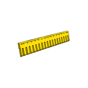 "1004581 CAT 3/4"" Holes 8FT Flat Serrated Heat Treated Grader Blade"