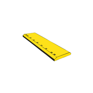 "1321019 CAT 1"" Holes 4FT Flat Heat Treated Grader Blade"