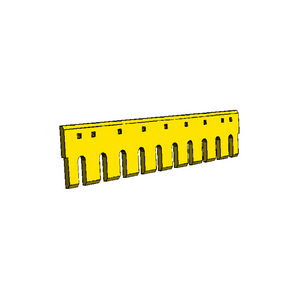 "4T8800HD-11 CAT 3/4"" Holes 4FT Flat Serrated Heat Treated Grader Blade"
