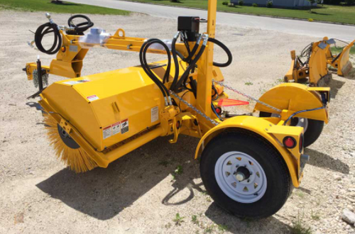 53H Tow Behind Hydraulically Driven Rotary Angle Broom