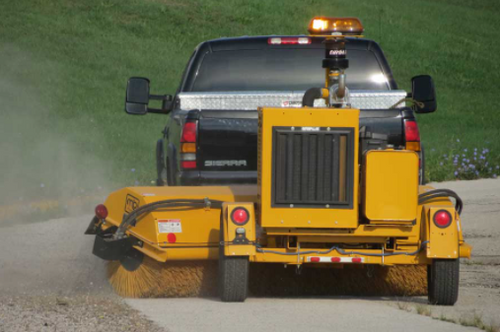 53MH Tow Behind Hydraulically Driven Rotary Angle Broom