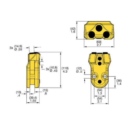 KFQ39H-6 Kennametal KF Quick Change Drilling Tooth