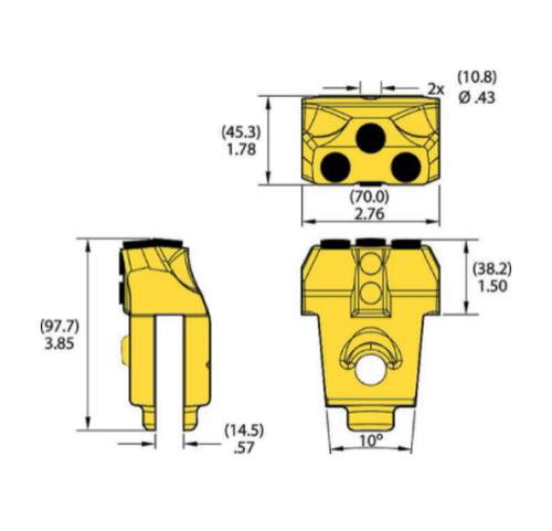 KFQC46-5 Kennametal KF Quick Change Drilling Tooth