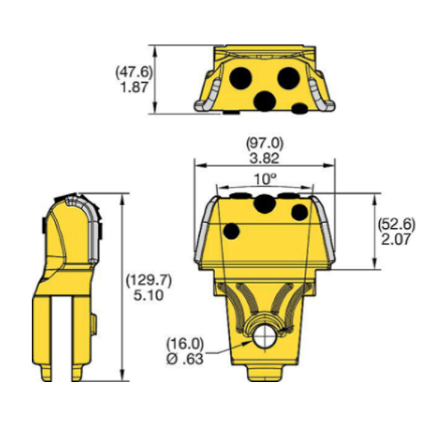 KFQT407085NNFC Kennametal KF Quick Change Drilling Tooth
