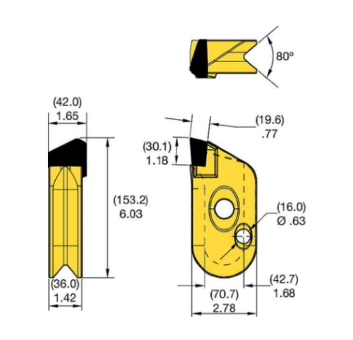 KFW42R Kennametal KF Wall Cutter Drilling Tooth