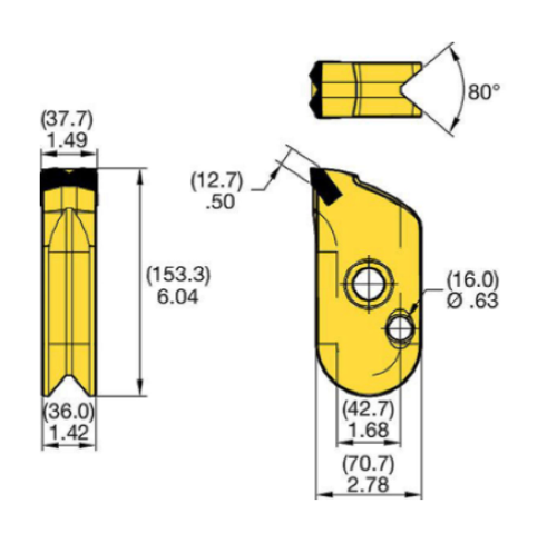 KFW38-2 Kennametal KF Wall Cutter Drilling Tooth