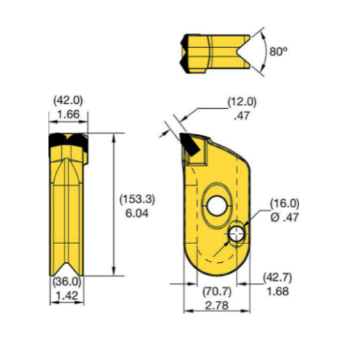 KFW42R-2 Kennametal KF Wall Cutter Drilling Tooth