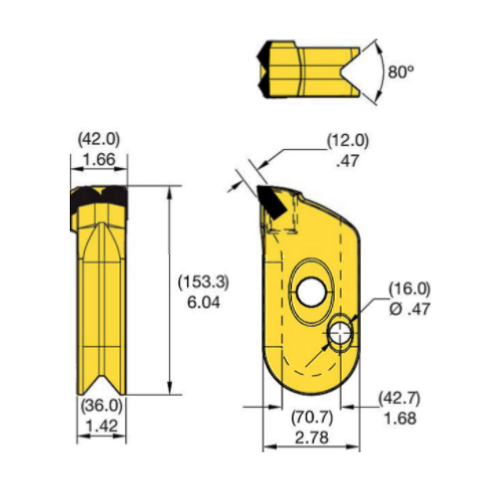 KFW42L-2 Kennametal KF Wall Cutter Drilling Tooth