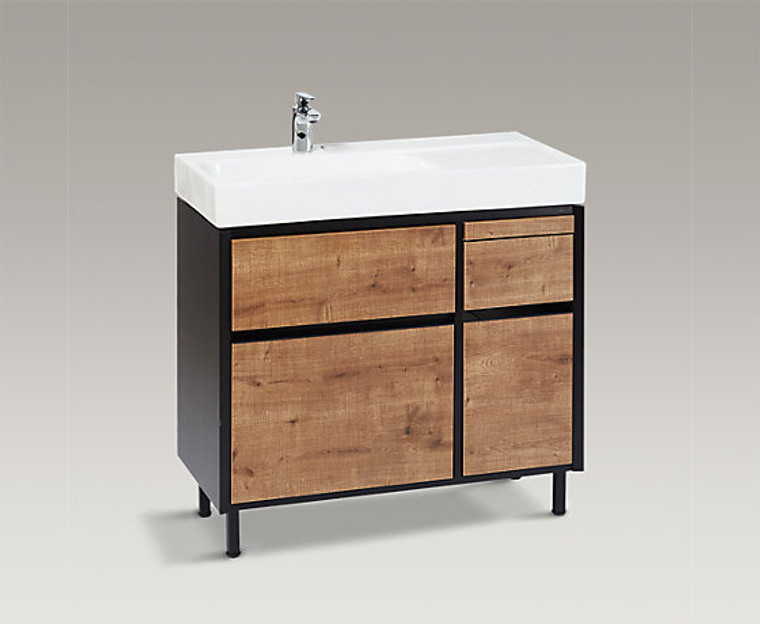 MAXISPACE 90cm 浴室收納櫃組 (深木紋)