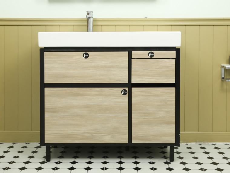 MAXISPACE 90cm 浴室收納櫃組 (淺木紋)