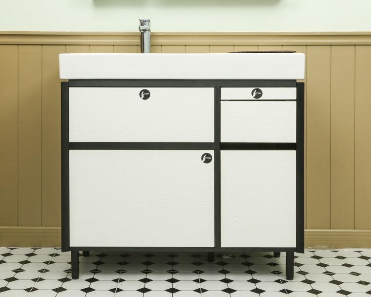 MAXISPACE 90cm 浴室收納櫃組 (白色)